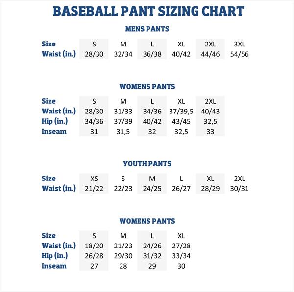 Sizing Charts | American Football Equipment, Baseball ...