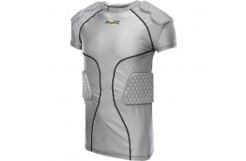 Riddell Power Padded Shirt Adult Grey (RTPTP) - Forelle American Sports Equipment