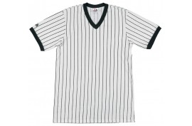 Majestic Adult V-Neck w/Pinstripes (0040) - Forelle American Sports Equipment