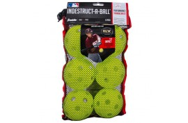 Franklin MLB Indestruct-A-Ball Softball (6 Pack) - Forelle American Sports Equipment