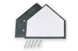 Benson HP2 (GH-0101) Homeplate w/Black Edge - Forelle American Sports Equipment