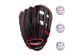 Wilson Baseball Set 2 | 1x WTA03RB1812 12'' LH + 3x LGB1 9'' - Forelle American Sports Equipment