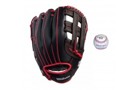 Wilson Baseball Set 1 | 1x WTA03RB1812 12'' LH + 1x LGB1 9'' - Forelle American Sports Equipment