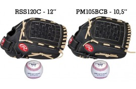 Baseball Set 1 | Adult 12'' & Youth 10,5'' Glove + 9'' Balls - Forelle American Sports Equipment