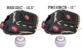 Baseball Set 2 | Adult 12,5'' & Youth 11'' Glove + 9'' Balls - Forelle American Sports Equipment
