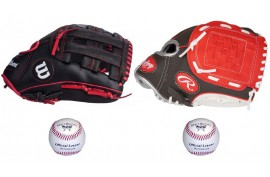Baseball Set 3 | Adult 12'' & Youth 10'' Glove + 9'' Balls - Forelle American Sports Equipment