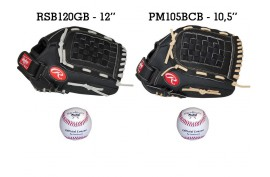 Baseball Set 4 | Adult 12'' & Youth 10,5'' Glove + 9'' Balls - Forelle American Sports Equipment