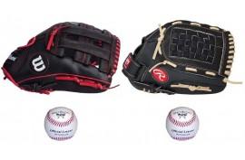 Baseball Set 6 | Adult 12'' & Youth 11,5'' Glove + 9'' Balls - Forelle American Sports Equipment