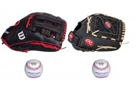 Baseball Set 5 | Adult 12'' & Youth 11'' Glove + 9'' Balls - Forelle American Sports Equipment