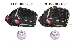 Baseball Set 6 | Adult 13'' & Youth 11,5'' Glove + 9'' Balls - Forelle American Sports Equipment