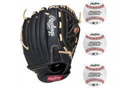 Rawlings Baseball Set 2|1x PM110BCB 10,5'' LH + 3x ROLB3 9'' - Forelle American Sports Equipment