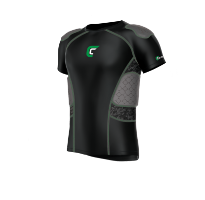 Cutters REV Impact 5Pad Shirt Black - Forelle American Sports Equipment