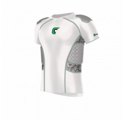 Cutters REV Impact 5Pad Shirt White - Forelle American Sports Equipment