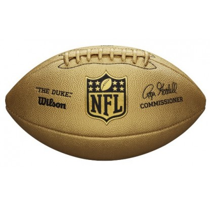 Gold Wilson The Duke Metallic Edition Football