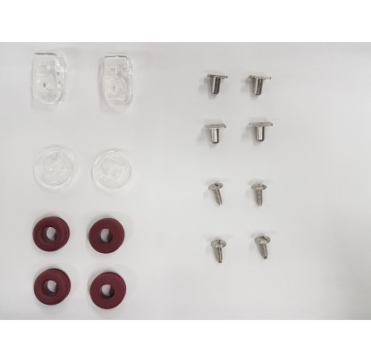 Riddell S-Bar Solid Wire Screw and T-Nut Kit (R45550) - Forelle American Sports Equipment