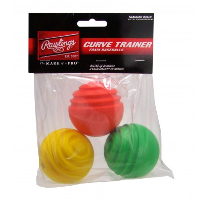 Rawlings Curve Trainer Balls (3pk) - Forelle American Sports Equipment