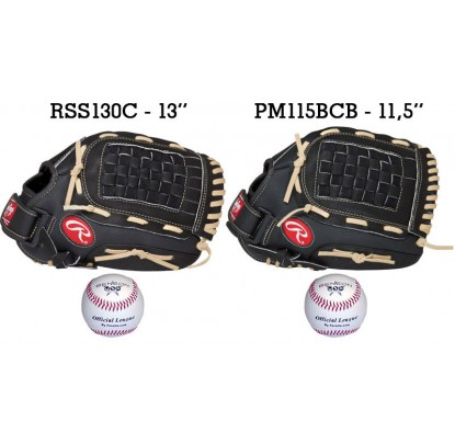 Baseball Set 3 | Adult 13'' & Youth 11,5'' Glove + 9'' Balls - Forelle American Sports Equipment