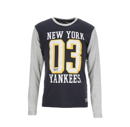Majestic Youth Contrast L/S Tee Yankees - Forelle American Sports Equipment