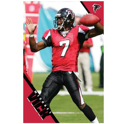 Poster 4035 Falcons - Vick - Forelle American Sports Equipment