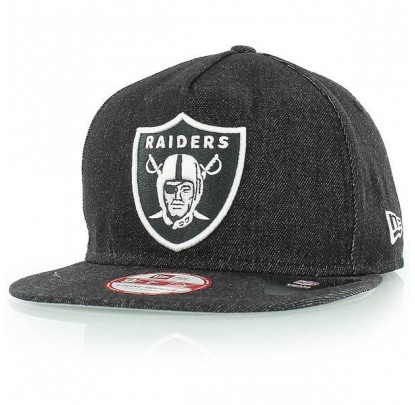 New Era NFL Denim Snap Black - Forelle American Sports Equipment